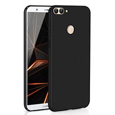 Handyhülle Hülle Kunststoff Schutzhülle Tasche Matt M01 für Huawei Enjoy 7S Schwarz