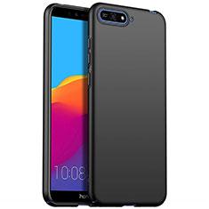 Handyhülle Hülle Kunststoff Schutzhülle Tasche Matt M01 für Huawei Enjoy 8e Schwarz