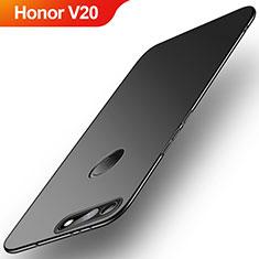 Handyhülle Hülle Kunststoff Schutzhülle Tasche Matt M01 für Huawei Honor V20 Schwarz