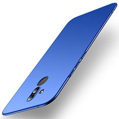 Handyhülle Hülle Kunststoff Schutzhülle Tasche Matt M01 für Huawei Mate 20 Lite Blau