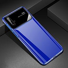 Handyhülle Hülle Kunststoff Schutzhülle Tasche Matt M01 für Huawei Nova 5T Blau