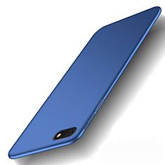 Handyhülle Hülle Kunststoff Schutzhülle Tasche Matt M01 für Huawei Y5 (2018) Blau