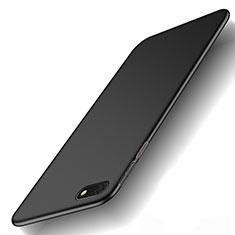 Handyhülle Hülle Kunststoff Schutzhülle Tasche Matt M01 für Huawei Y5 Prime (2018) Schwarz