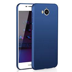 Handyhülle Hülle Kunststoff Schutzhülle Tasche Matt M01 für Huawei Y6 (2017) Blau