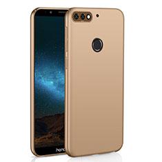 Handyhülle Hülle Kunststoff Schutzhülle Tasche Matt M01 für Huawei Y7 (2018) Gold