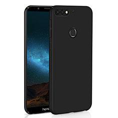 Handyhülle Hülle Kunststoff Schutzhülle Tasche Matt M01 für Huawei Y7 (2018) Schwarz