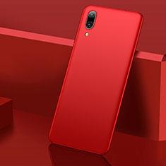 Handyhülle Hülle Kunststoff Schutzhülle Tasche Matt M01 für Huawei Y7 (2019) Rot