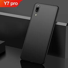 Handyhülle Hülle Kunststoff Schutzhülle Tasche Matt M01 für Huawei Y7 (2019) Schwarz