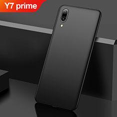 Handyhülle Hülle Kunststoff Schutzhülle Tasche Matt M01 für Huawei Y7 Prime (2019) Schwarz