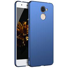 Handyhülle Hülle Kunststoff Schutzhülle Tasche Matt M01 für Huawei Y7 Prime Blau