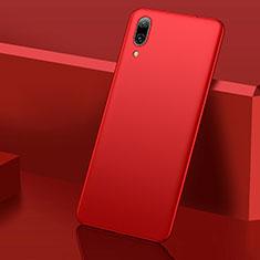 Handyhülle Hülle Kunststoff Schutzhülle Tasche Matt M01 für Huawei Y7 Pro (2019) Rot