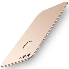 Handyhülle Hülle Kunststoff Schutzhülle Tasche Matt M01 für Huawei Y9 (2018) Gold