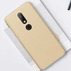 Handyhülle Hülle Kunststoff Schutzhülle Tasche Matt M01 für Nokia 6.1 Plus Gold