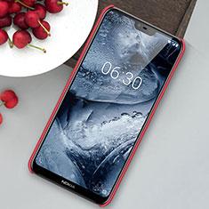 Handyhülle Hülle Kunststoff Schutzhülle Tasche Matt M01 für Nokia 6.1 Plus Rot
