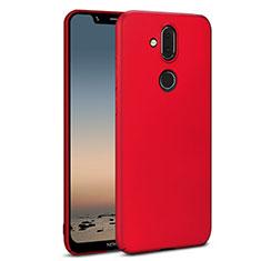 Handyhülle Hülle Kunststoff Schutzhülle Tasche Matt M01 für Nokia 7.1 Plus Rot