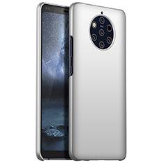 Handyhülle Hülle Kunststoff Schutzhülle Tasche Matt M01 für Nokia 9 PureView Silber