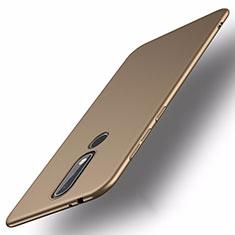 Handyhülle Hülle Kunststoff Schutzhülle Tasche Matt M01 für Nokia X5 Gold