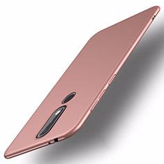 Handyhülle Hülle Kunststoff Schutzhülle Tasche Matt M01 für Nokia X5 Rosegold