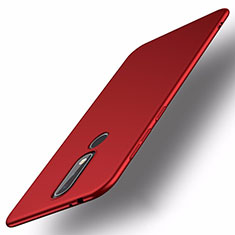 Handyhülle Hülle Kunststoff Schutzhülle Tasche Matt M01 für Nokia X5 Rot
