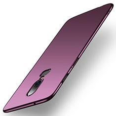Handyhülle Hülle Kunststoff Schutzhülle Tasche Matt M01 für OnePlus 6 Violett