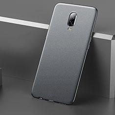 Handyhülle Hülle Kunststoff Schutzhülle Tasche Matt M01 für OnePlus 6T Grau