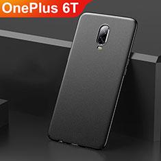Handyhülle Hülle Kunststoff Schutzhülle Tasche Matt M01 für OnePlus 6T Schwarz