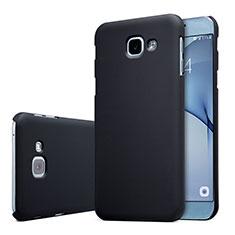 Handyhülle Hülle Kunststoff Schutzhülle Tasche Matt M01 für Samsung Galaxy A8 (2016) A8100 A810F Schwarz