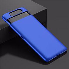Handyhülle Hülle Kunststoff Schutzhülle Tasche Matt M01 für Samsung Galaxy A80 Blau