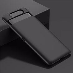 Handyhülle Hülle Kunststoff Schutzhülle Tasche Matt M01 für Samsung Galaxy A80 Schwarz