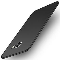 Handyhülle Hülle Kunststoff Schutzhülle Tasche Matt M01 für Samsung Galaxy C7 Pro C7010 Schwarz