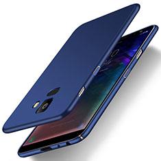 Handyhülle Hülle Kunststoff Schutzhülle Tasche Matt M01 für Samsung Galaxy J6 (2018) J600F Blau