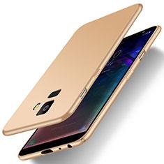 Handyhülle Hülle Kunststoff Schutzhülle Tasche Matt M01 für Samsung Galaxy J6 (2018) J600F Gold
