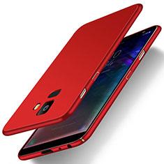 Handyhülle Hülle Kunststoff Schutzhülle Tasche Matt M01 für Samsung Galaxy J6 (2018) J600F Rot