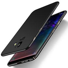 Handyhülle Hülle Kunststoff Schutzhülle Tasche Matt M01 für Samsung Galaxy J6 (2018) J600F Schwarz
