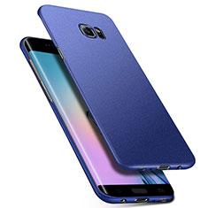 Handyhülle Hülle Kunststoff Schutzhülle Tasche Matt M01 für Samsung Galaxy S6 Edge+ Plus SM-G928F Blau