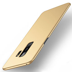 Handyhülle Hülle Kunststoff Schutzhülle Tasche Matt M01 für Samsung Galaxy S9 Plus Gold