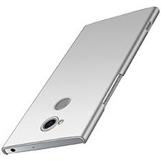 Handyhülle Hülle Kunststoff Schutzhülle Tasche Matt M01 für Sony Xperia XA2 Silber
