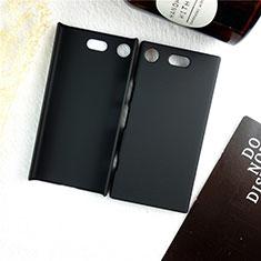 Handyhülle Hülle Kunststoff Schutzhülle Tasche Matt M01 für Sony Xperia XZ1 Compact Schwarz