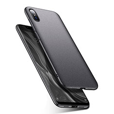 Handyhülle Hülle Kunststoff Schutzhülle Tasche Matt M01 für Xiaomi Mi 8 Screen Fingerprint Edition Grau