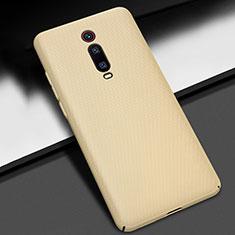 Handyhülle Hülle Kunststoff Schutzhülle Tasche Matt M01 für Xiaomi Mi 9T Pro Gold