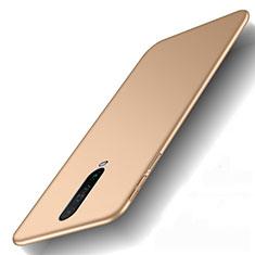Handyhülle Hülle Kunststoff Schutzhülle Tasche Matt M01 für Xiaomi Poco X2 Gold