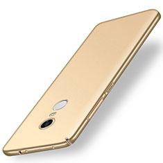 Handyhülle Hülle Kunststoff Schutzhülle Tasche Matt M01 für Xiaomi Redmi 5 Plus Gold