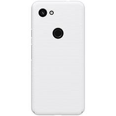 Handyhülle Hülle Kunststoff Schutzhülle Tasche Matt M02 für Google Pixel 3a Weiß