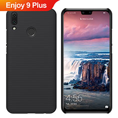 Handyhülle Hülle Kunststoff Schutzhülle Tasche Matt M02 für Huawei Enjoy 9 Plus Schwarz