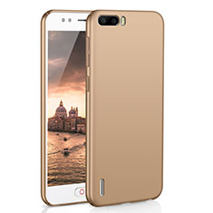 Handyhülle Hülle Kunststoff Schutzhülle Tasche Matt M02 für Huawei Honor 6 Plus Gold