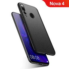 Handyhülle Hülle Kunststoff Schutzhülle Tasche Matt M02 für Huawei Nova 4 Schwarz