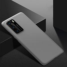 Handyhülle Hülle Kunststoff Schutzhülle Tasche Matt M02 für Huawei P40 Grau