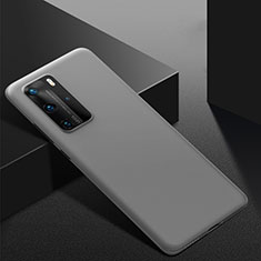 Handyhülle Hülle Kunststoff Schutzhülle Tasche Matt M02 für Huawei P40 Pro Grau