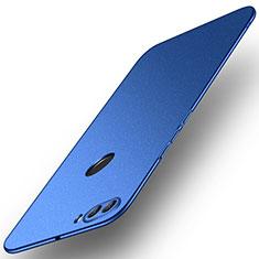 Handyhülle Hülle Kunststoff Schutzhülle Tasche Matt M02 für Huawei Y9 (2018) Blau