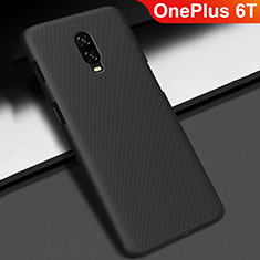 Handyhülle Hülle Kunststoff Schutzhülle Tasche Matt M02 für OnePlus 6T Schwarz
